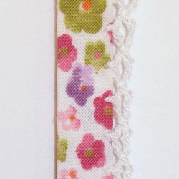 Biaisband roze bloemen (44)