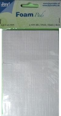 3D foam-tape (klein!) 2 mm dik, 2,5 x 2,5 mm