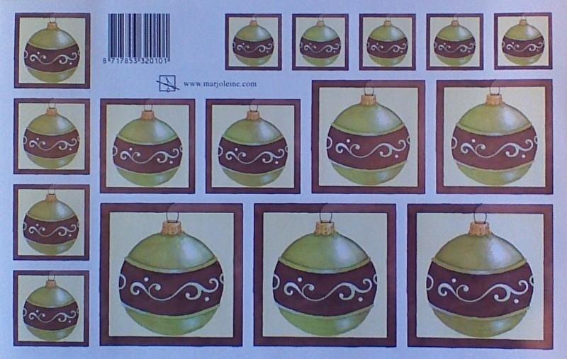 Groen bruine kerstbal 0101