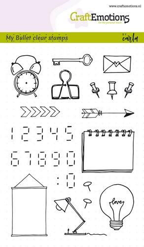 Clear Stamp Carla Kamphuis: bullet journal images - digits (1753)