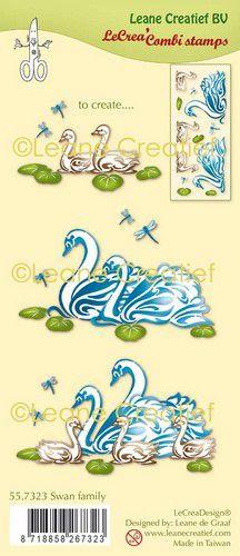 Clear stamp Zwanen familie 55.7323