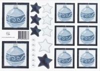Blauwe kerstbal 0873