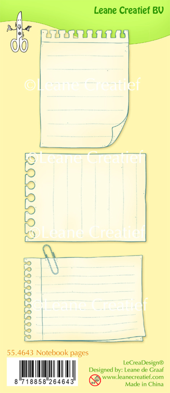 Clear stamp Leane: Notebook pages (554643)
