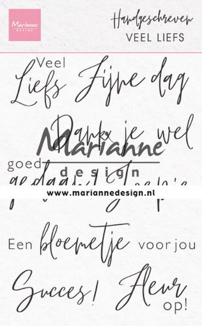 Clear stamp CS1050 Handgeschreven Veel Liefs