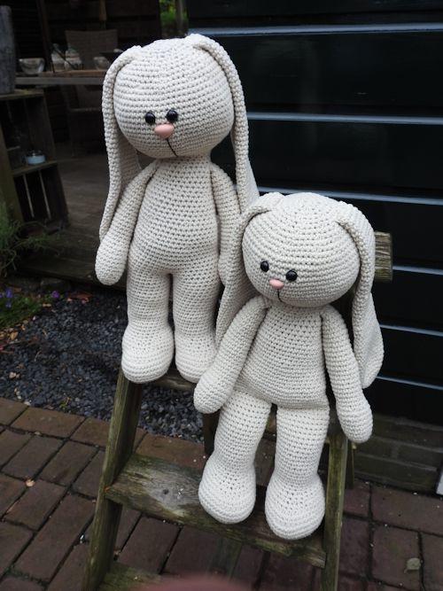 XXL Haakpakket Funny Bunny Basic linnen (staand / zittend)