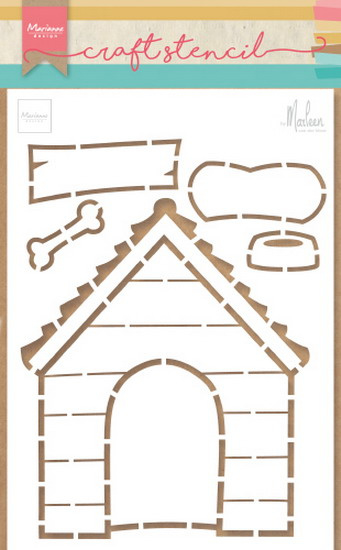 Craft stencil (PS 8030) doghouse