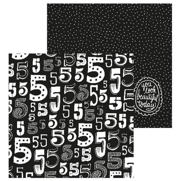 Paperfuel scrapbook papier 30,5x30,5cm 200g numbers