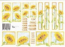 knipvel: zonnebloemen