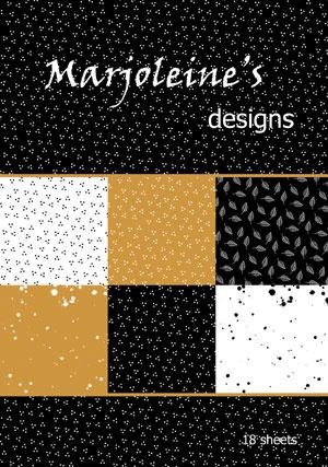 Marjoleine's zwart-wit-oker paperbook