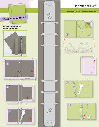 Ringband Planner - DIY - basis voor voor papier A5