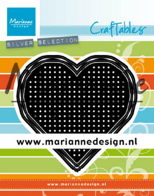 Craftables (CR1482) cross stitch heart
