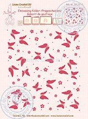 Embossing folder Leane: background butterflies (352113)
