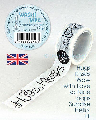 Washi tape 'Hugs' 20 mm x 5 m 61.7163