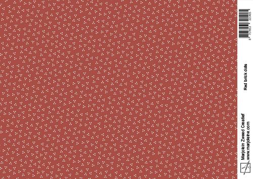 1405 brick red dot