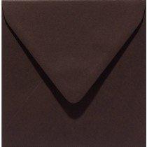 vierkante envelop (14 x 14 cm) donkerbruin (938) voorheen 38 donkerbruin