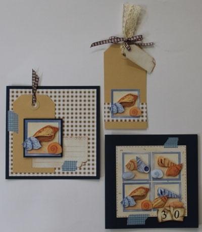 Voorbeeld kaarten schelpen