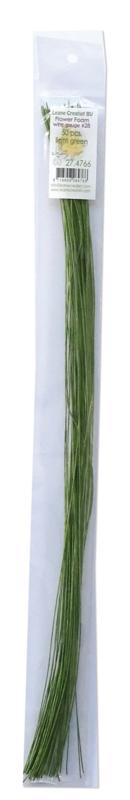 Flower foam paper wrapped wire light green (274766)