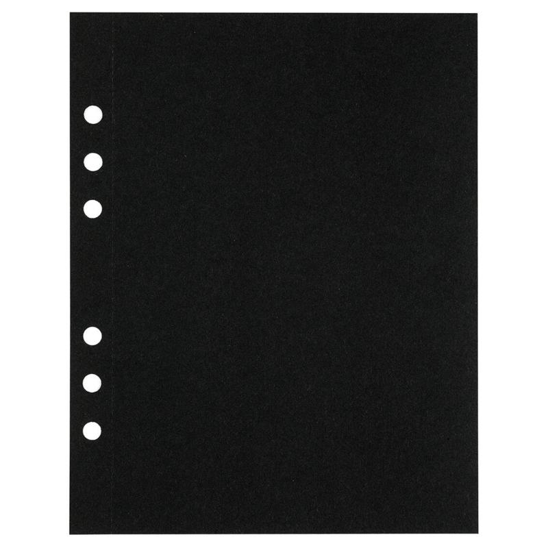 (Art.no. 920811) 10 vel MyArtBook Paper 210 GSM Black drawingpaper Size 165 x 210 mm (A5)
