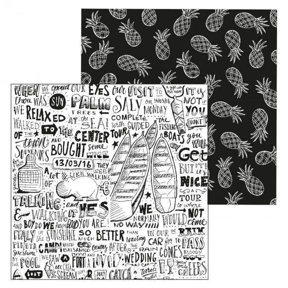 Paperfuel scrapbook papier 30,5x30,5cm 200g holiday