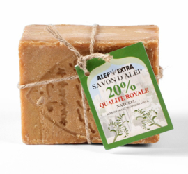 Aleppo zeep 200 gr, 20 % Laurierbesolie