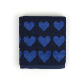 Bunzlau Castle, keukentextiel, hart donker blauw