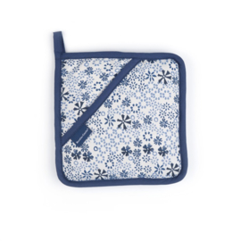 Bunzlau pannenlap blauw lace