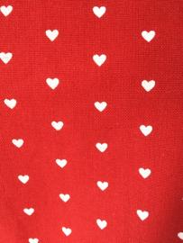 Keukenschort rood met witte hartjes