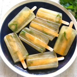 Minty Green Tea Ice Pops