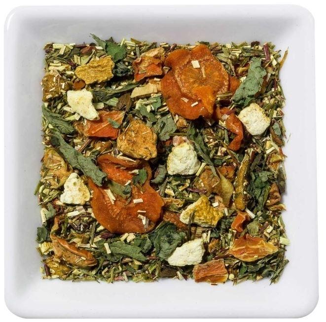 Groene rooibos Lotta Karotta thee met fruit en citrusvruchten