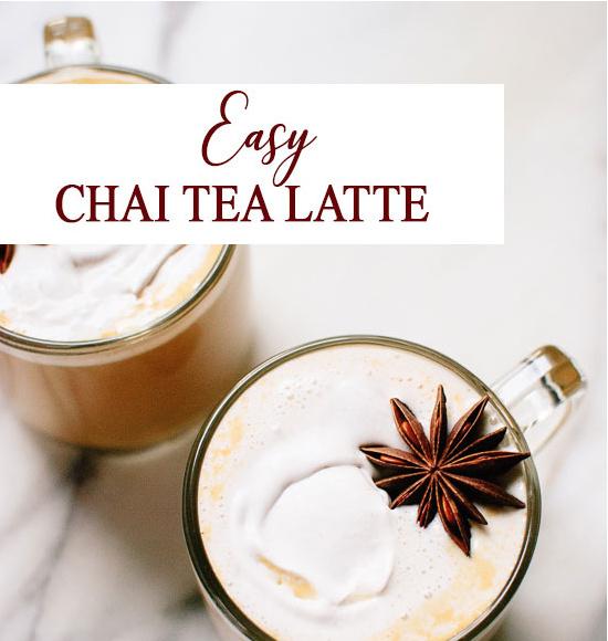 RECEPT EASY CHAI LATTE