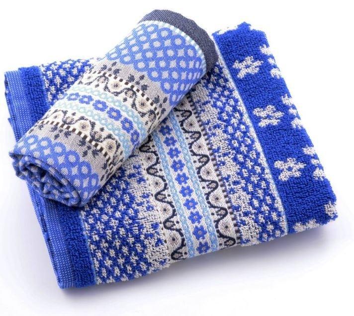 Theedoek En Handdoek Set.Bunzlau Castle Marrakesch Royal Bleu Keukentextiel Maak
