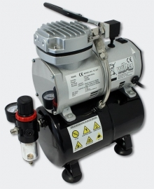 Airbrush compressor met tank AS189, water & regulator