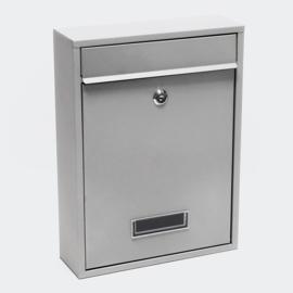 Brievenbus; Wandbrievenbus, Mailbox Type V11 zilver