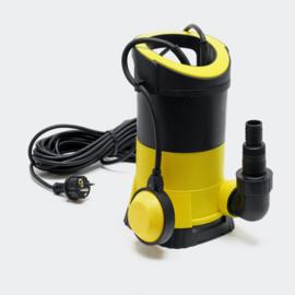 Vuilwaterpomp met 5000l/u 250W Dompelpomp, opvoerhoogte 6m tot Ø 5mm korrelgrootte.
