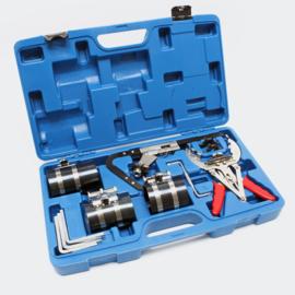 Zuigerveertang gereedschapskoffer voor het monteren en reinigen van zuigerveren;.