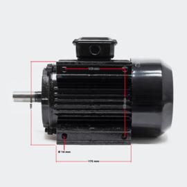 Professionele 3-fasen. Koperen elektromotor 2-polig 400V 3kW 4 PK