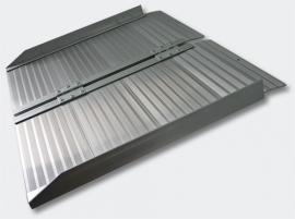 Aluminium inklapbare rolstoelhellingbaan, 620 mm lang, tot 270 kg.