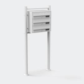 Meervoudige staande brievenbus ( hoog 3 stuks ) in wit.
