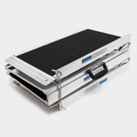 Rolstoelhelling 2x vouwbaar aluminium antislip-oprijplaat 213cm