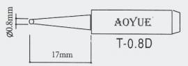 T-0.8D AOYUE e.a. Soldeerpunt D0,8x0,6mm