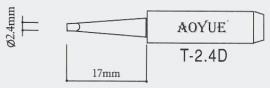 T-2.4D AOYUE e.a. Soldeerpunt, D 2,4x0,5mm
