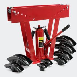 Hydraulische buizenbuigmachine tot 16 ton met 8 buigstukken
