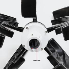 Windturbine 12V, Windgenerator, 500W met 4 bladen zwarte verticale generator voor windenergie windbladen, zwart.