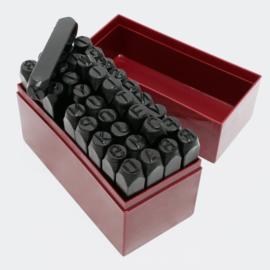 Set Slagletters & -nummers, 36-delig. 10 mm.