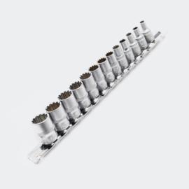 Dopsleutelset 6,35 mm (¼ inch) 13 delige Doppenset; Veeltandig