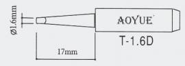 T-1.6D AOYUE e.a. Soldeerpunt, D 1,6x0,5mm