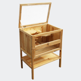 Hamsterkooi, kleine dierenkooi; houten knaagdierhuis.