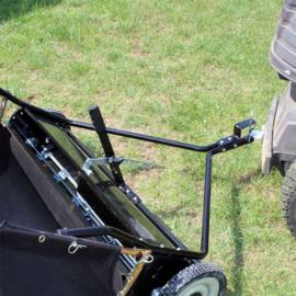 Gazonveger, bladveger 95cm breed voor zitmaaier, gazontractor aanhanger.