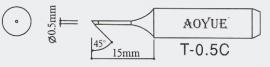 T-0.5C AOYUE e.a. Soldeerpunt R 0,5mm / 45°