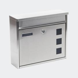 Brievenbus; Wandbrievenbus, Mailbox Type V12 grijs